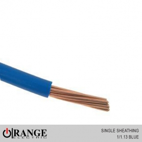Orange Single Sheathing Wire Blue 50M