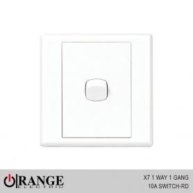 Orange X7 1 Way 1 Gang 10A Switch - RD