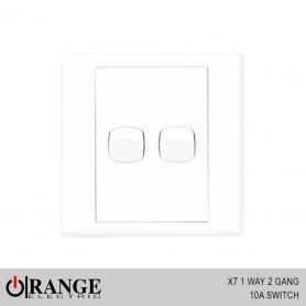 Orange X7 1 Way 2 Gang 10A Switch