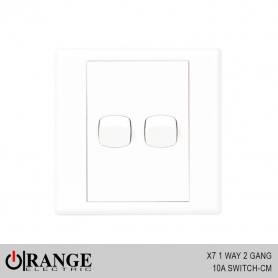 Orange X7 1 Way 2 Gang 10A Switch - CM