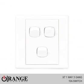 Orange X7 1 Way 3 Gang 10A Switch
