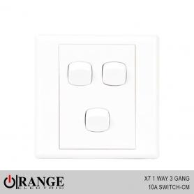 Orange X7 1 Way 3 Gang 10A Switch - CM
