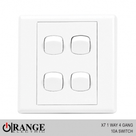 Orange X7 1 Way 4 Gang 10A Switch
