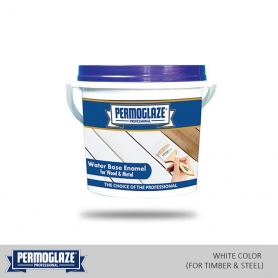 Permoglaze Water Base Enamel White (For Timber & Steel)