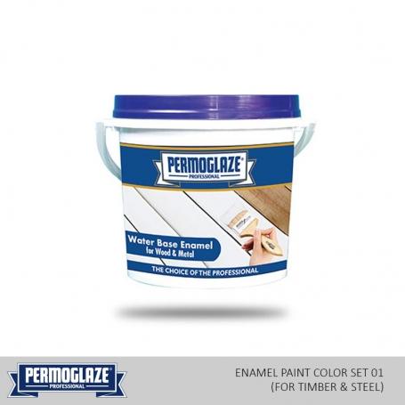 Permoglaze Water Base Enamel Steel - Colors