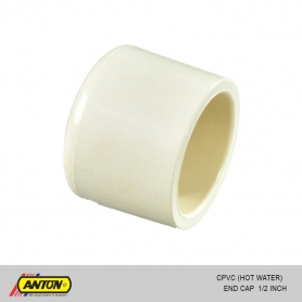 Anton C PVC (Hot Water) End Cap 1/2