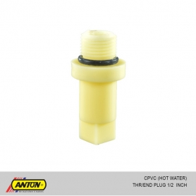 Anton C PVC (Hot Water) THR/End Plug 1/2