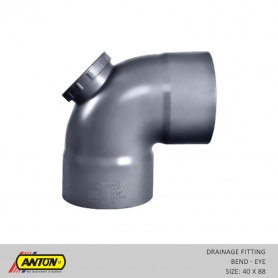 Anton Drainage Fittings - DR/Bend 40 x 88 Eye