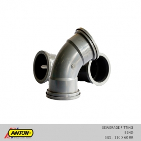 Anton Sewerage Fittings - SW/Bend 110 x 60 RR