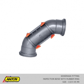 Anton Sewerage Fittings - SW/IN/Bend 110 x 45 RR