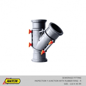 Anton Sewerage Fittings - SW/INS Y JN R 110 x 45 RR