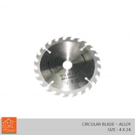 Wood Cutting Circular Saw Harden Alloys Steel (4 x 24)