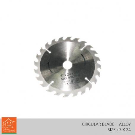 Wood Cutting Circular Saw Harden Alloys Steel (7 x 24)