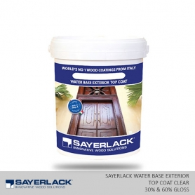 Sayerlack Water Base Exterior Top Coat Clear  (30% & 60% Gloss)