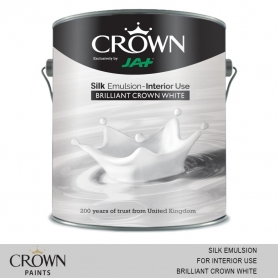 Crown Silk Emulsion (For Interior Use) Brilliant White