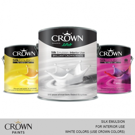 Crown Silk Emulsion (For Interior Use) White Colors (Use Crown Color Card)
