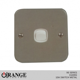 Orange X6 2 Way 1 Gang  10 A Switch Metal