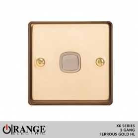 copy of Orange X6 1 Way 1 Gang  10 A Switch Metal