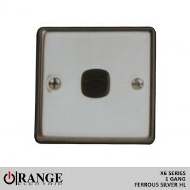 Orange 1 Way 1 Gang Ferrous Silver HL