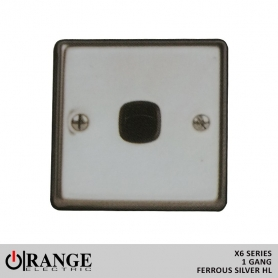 Orange 2 Way 1 Gang Ferrous Silver HL