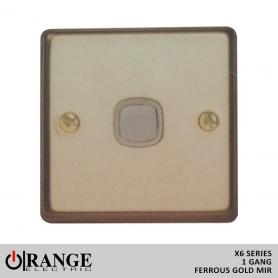 Orange 1 Way 1 Gang Switch Ferrous Gold Mir