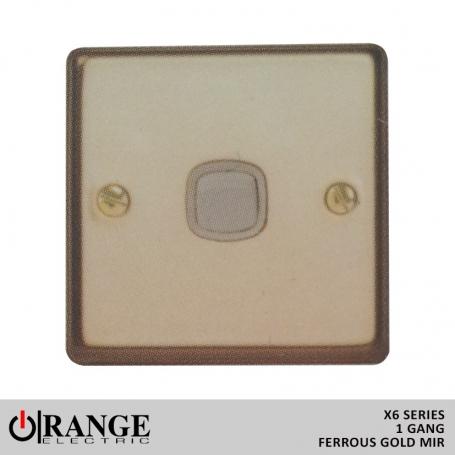 Orange 2 Way 1 Gang Switch Ferrous Gold Mir