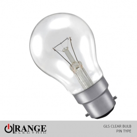 Orange GLS Pin Type Clear Bulb