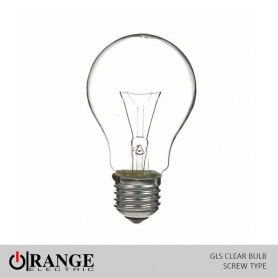 Orange GLS Screw Type Clear Bulb