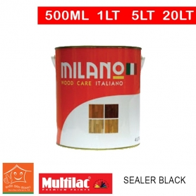 Milano Pu Top Coat Lacquer Sealer Black