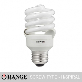 Orange CFL Half Full Spiral Screw Type