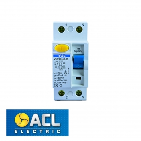ACL - ACLE RCD 40A 30mA DOUBLE POLE