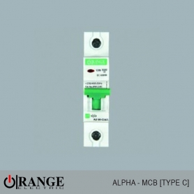Orange MCB Alpha 1 Pole Type - C - GY