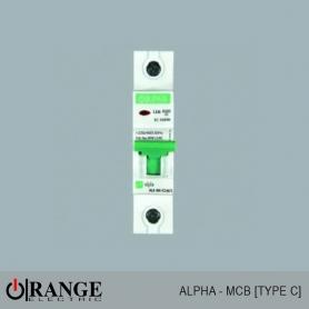 Orange MCB Alpha 1 Pole Type - C