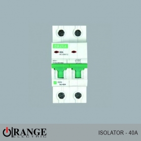 Orange Isolator Alpha 2 pole 40A