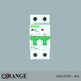 Orange Isolator Alpha 2 pole 40A