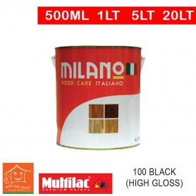 Milano Pu Top Coat Lacquer 100 Black (High Gloss)