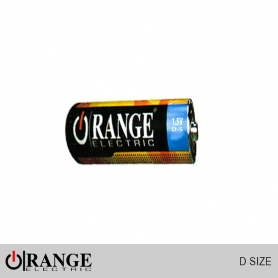Orange Battery 1.5V D Size