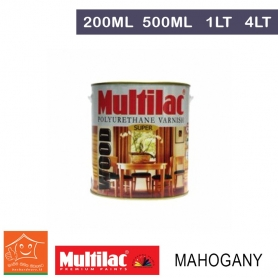 Multilac Polyurethane Varnish Mahogany