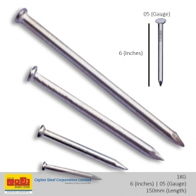 Wire Nail [6(in) 05(Gauge)] 1Kg