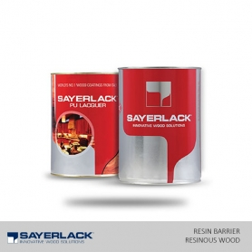 Sayerlack PU Resin Barrier / Base Coat Clear For Resinous Wood